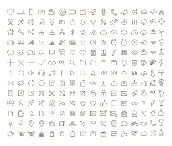 200 Tonicons Sketch Font Outline Icons 9 vector tonicons sketch line icons font icons font css