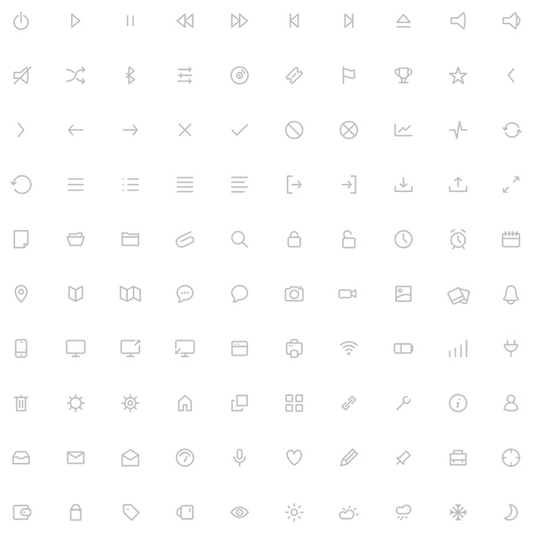 100 Minimal Line Icons Pack 11 set pack outline minimal line icons line