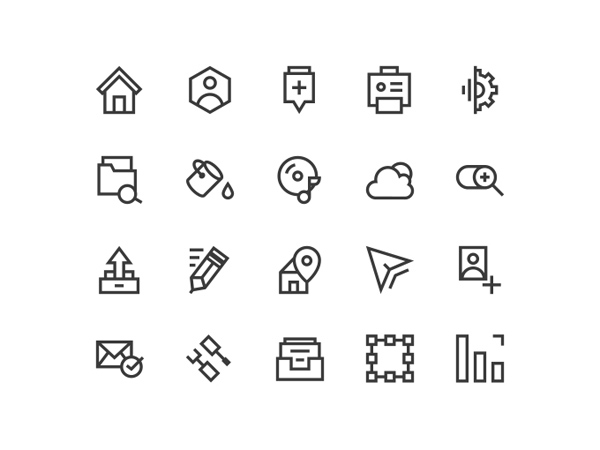 20 Web Line Vector Icons 13 vector set psd outline line icons